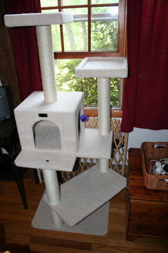 Armarkat Ivory Faux Fleece Cat Tree