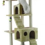 Armarkat Beige Faux Fur 72 Inch Cat Tree