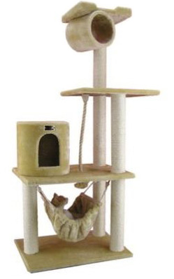 Armarkat Beige Faux Fur Cat Tree