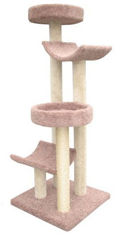 "Molly and Friends ""Step Stool Sleeper"" Premium Handmade Cat Tree"