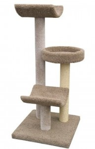 "Molly and Friends ""Layabout"" Handmade 3-Tier Cat Tree"