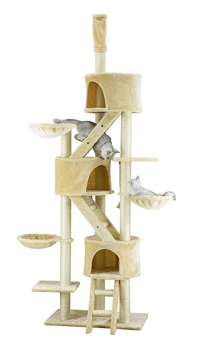 Go Pet Club Huge Cat Tree 92 Inch-Light