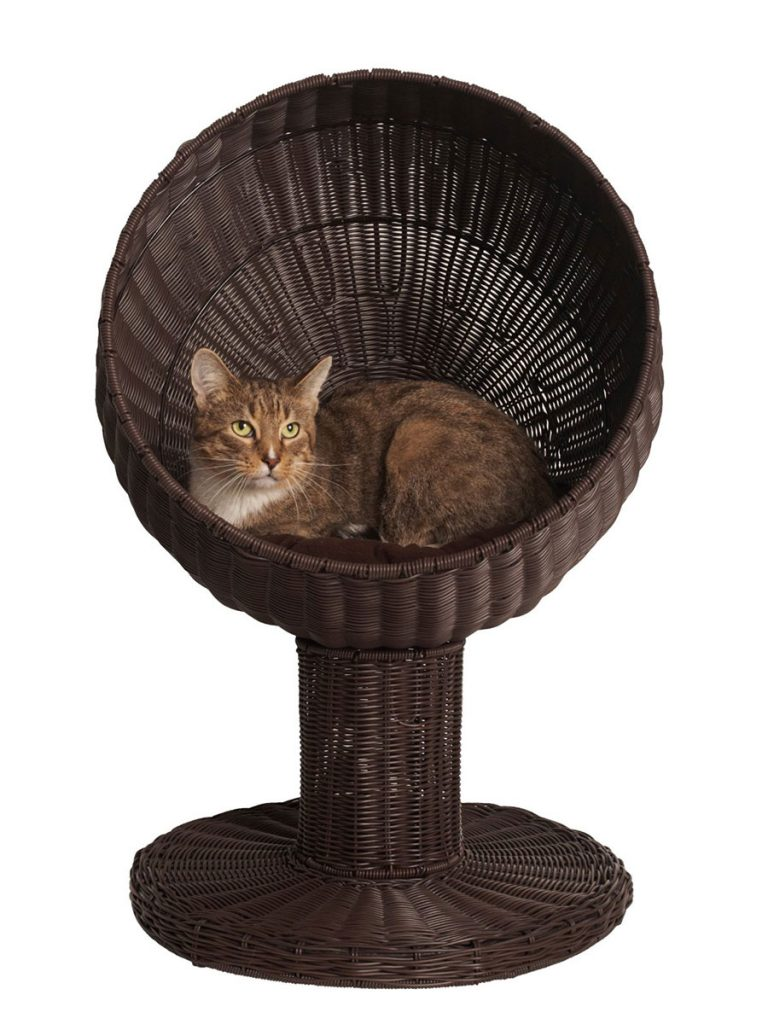 Kitty Ball Rattan Cat Bed 28 Inch