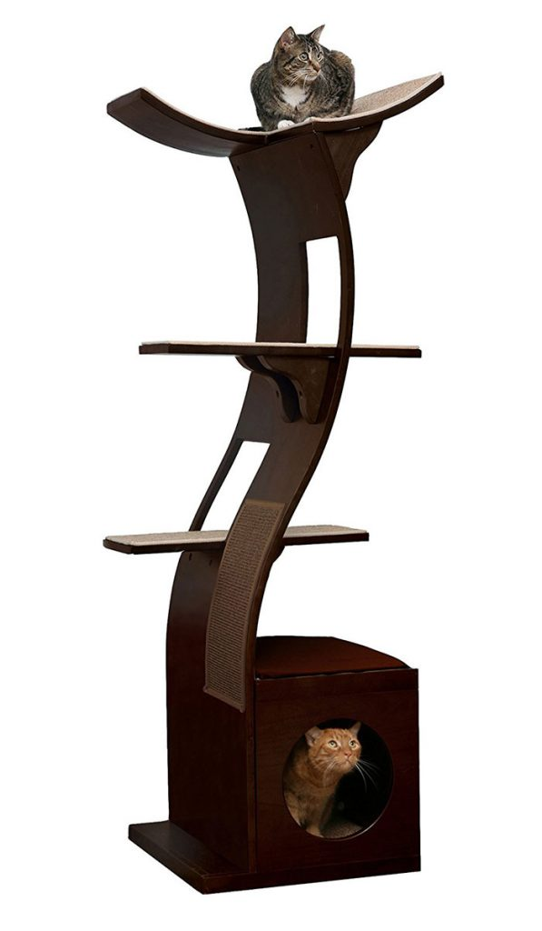 Refined Feline Lotus Cat Tower 69 Inch